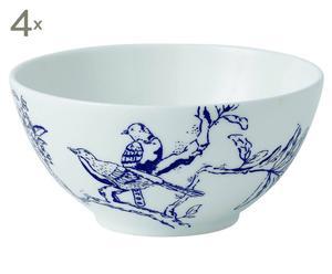 Fine Bone China Schaaltjes Chinoiserie Blue, 4 stuks