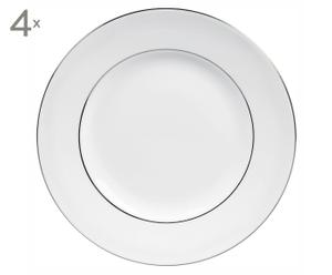 Dinerborden Blanc Sur Blanc, 4 stuks, diameter 27 cm