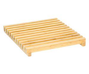 Houten badmat Arena, bamboe, 38 x 43 cm