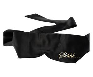 Satijnen oogmasker Blind, zwart/goud, L 64 cm