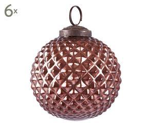 Set van 6 kerstballen Tilders, bruin, Ø 8 cm