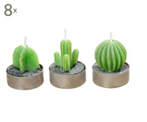 Waxinelichtjes Candle Cactus, 24-delig, H 5 cm