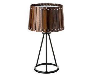 XL-tafellamp Jo, zwart/bruin, H 60 cm