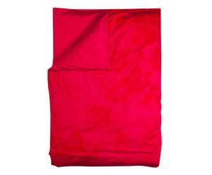 Dubbelzijdig dekbedovertrek Romantic, rood/fuchsia, 220 x 260 cm