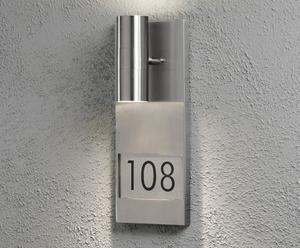 Huisnummerlamp Modena, H 42 cm