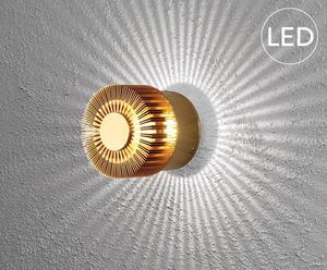 LED-wandlamp Monza, brons, diameter 9 cm