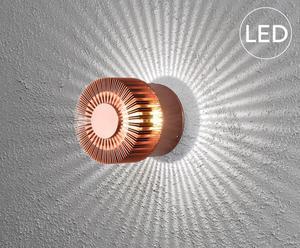 LED-wandlamp Monza, koper, diameter 9 cm