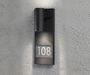 Wandlamp Modena, zwart/transparant, H 42 cm
