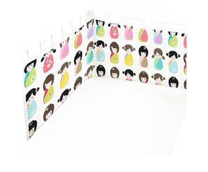 Wieg- en boxbeschermer Dolls, L 180 cm