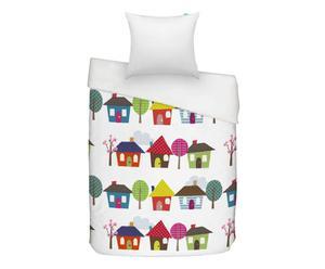 Kinder-bedlinnen Houses, 2-delig, 140 x 200 cm
