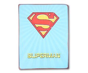 Wandafbeelding Superman, 26 x 35 cm