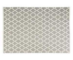 Handgeweven wollen tapijt Mara, grijs, 200 x 300 cm