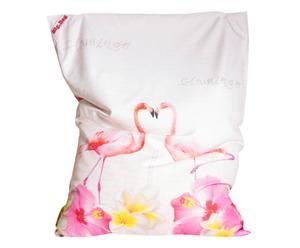 In- en outdoor zitzak Big Bag Flamingo Love, B 170 cm