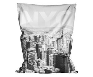 Zitzak NYC, zwart/wit, B 130 cm