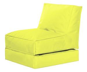Uitklapbare zitzak Twist, lichtgroen, B 70 cm