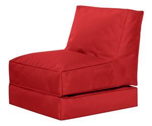 Uitklapbare In- & Outdoor zitzak Twist, rood, B 70 cm