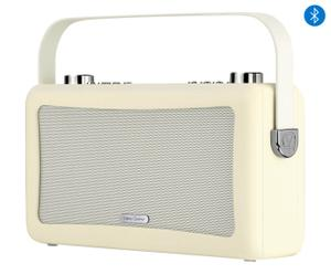 Retro-soundsysteem Travis, creme, B 29 cm