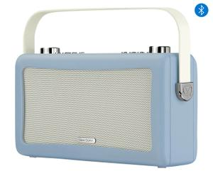Retro-soundsysteem Travis, lichtblauw, B 29 cm