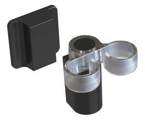 Magnetische afwasborstelhouder Cloth Holder I, zilver/zwart, L 6 cm