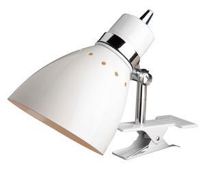 Leeslamp Alicia, draaibaar, wit, H 22 cm