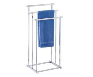 Handdoek- & kledingrek James, chroom, B 33 cm