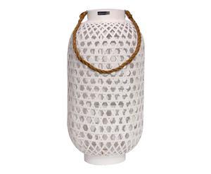 Lampion Bambus, weiß, H 57 cm