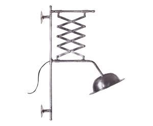 Wandlamp Manhattan, zink, H 69 cm