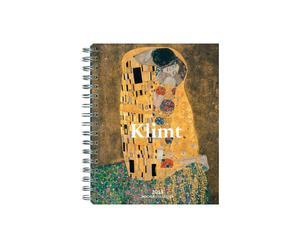 Taschenkalender Gustav Klimt mit Spiralbindung, 17 x 22 cm