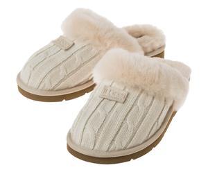 Pantoffels Cozy Knit, creme, maat 39