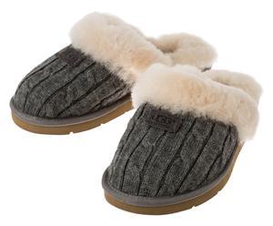 Pantoffels Cozy Knit, grijs, maat 38