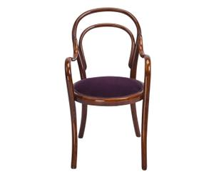 Thonet-Kinderstoel met velours, uit 1910, B 38 cm