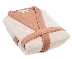 Badjas Organic Cottony Robe, bruin/beige, maat S