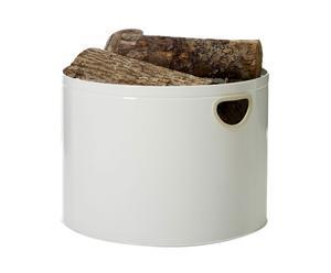 Mand voor brandhout Woodlog, wit