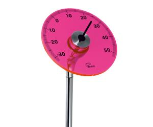 Outdoor-Thermometer LINEAR, pink, H 96 cm