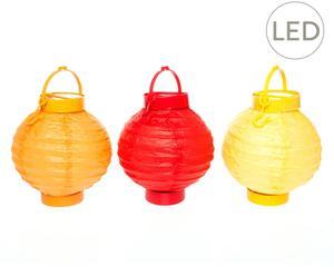 LED-Lampion Luxi, 3 stuks, H 17 cm
