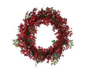 Kerstkrans Winterdream, rood/groen, diameter 55 cm