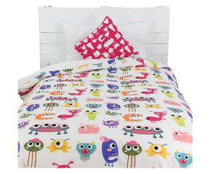 Kinderdekbedovertrekset Sweet Monsters, 2-delig, 140 x 200 cm