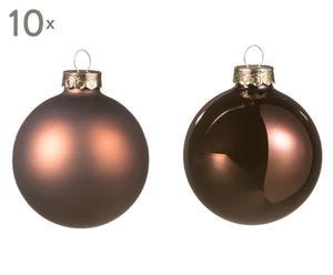 Kerstballenset Lillian, 20-delig, bruin, Ø 6 cm