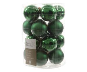 Kerstballenset Romy, 20-delig, groen, Ø 6 cm