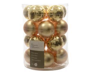 Kerstballen Romy Riana, goud, 20 stuks, Ø 6 cm
