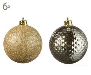 Kerstballen set Francis, goud, 12-delig, Ø 7 cm