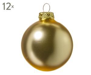 Kerstballen Maja, 12 stuks, rosegoud, Ø 6 cm