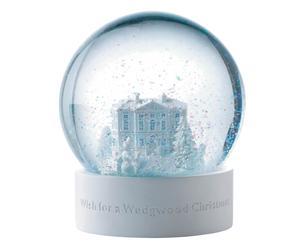 Sneeuwbol Snowglobe, wit/lichtblauw, Ø 13 cm
