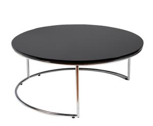 Ronde salontafel y extensible Memphis Collection - zwart