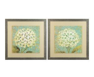 Set van 2 afbeeldingen Hortensia