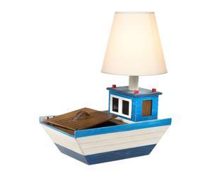 Tafellamp Bootje - wit en blauw