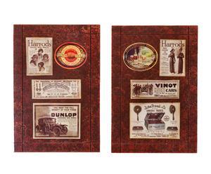 Set van 2 decoratieve lijsten Harrods