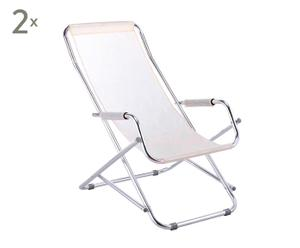 Outdoor ligstoelen VENEZIA, 2 stuks