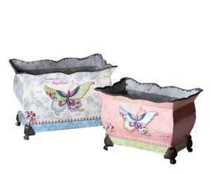 Set van 2 bloempotten Butterfly