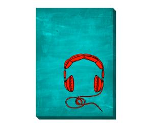 Canvas-Druck EARPHONE I, 70 x 50 cm